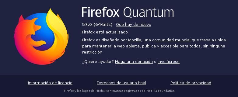 Mozilla Firefox en Debian Stretch de 64 bits