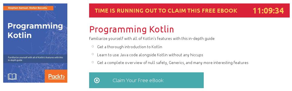 Programming Kotlin, ebook gratuito disponible durante las próximas 11 horas