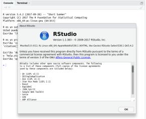 RStudio en Ubuntu 17.10 Ubuntu Artful Aardvark (imagen destacada)