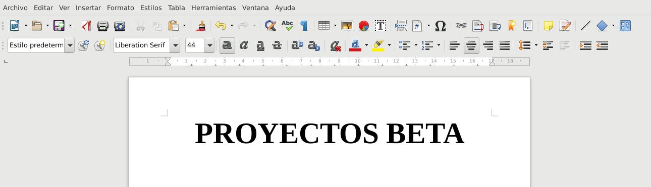 LibreOffice 5.4.3 en Debian Stretch