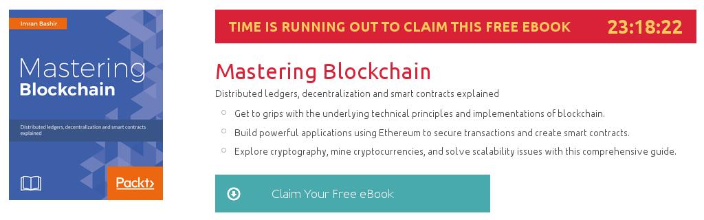 Mastering Blockchain, ebook gratuito disponible durante las próximas 23 horas