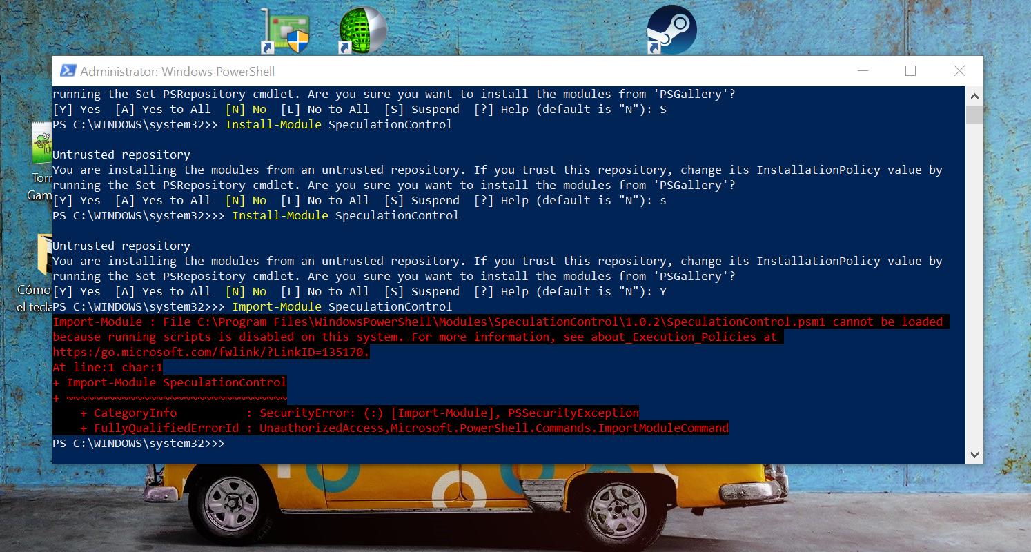 Cómo saber si nuestro Windows 10 es vulnerable a Meltdown y a Spectre