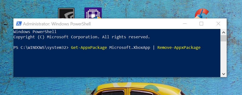 Desinstalar Xbox en Windows 10