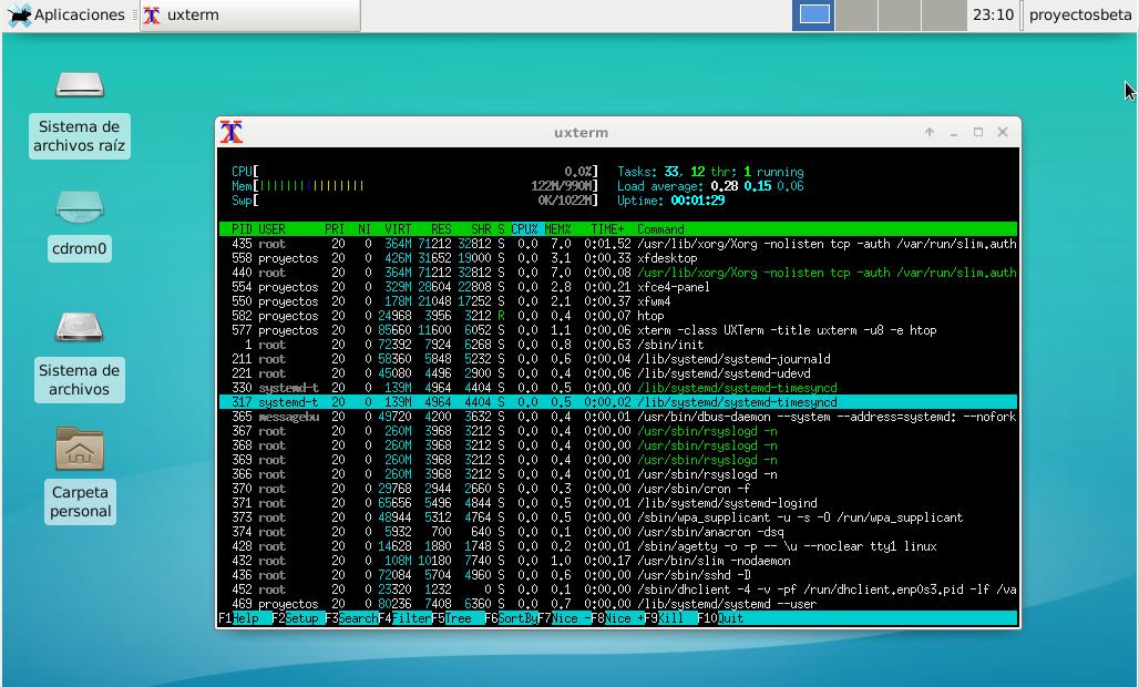 XFCE 4 con instalación mínima en Debian Buster – Y el todo en