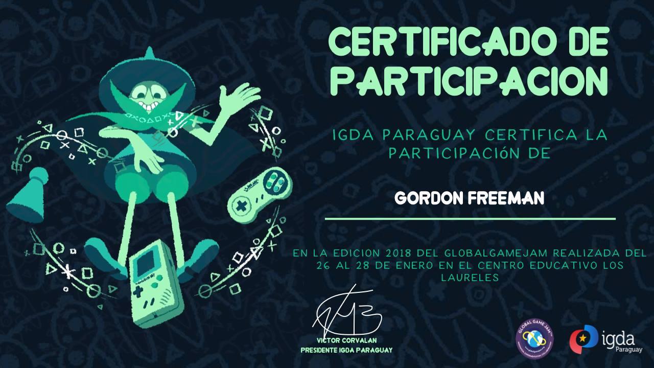 Certificado de participación GGJ18