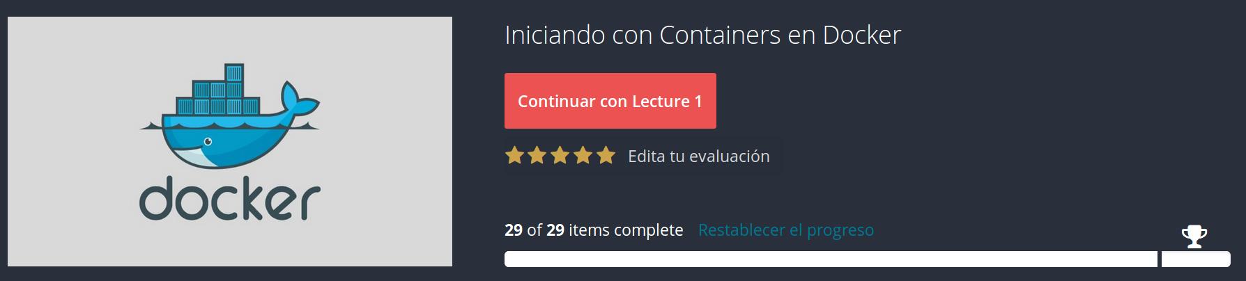 Curso Iniciando con Containers en Docker