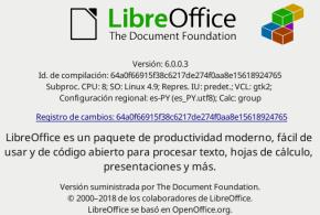 LibreOffice 6.0.0 en Debian Stretch (imagen destacada)