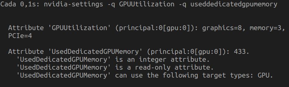 Monitoreo GPU con nvidia-settings