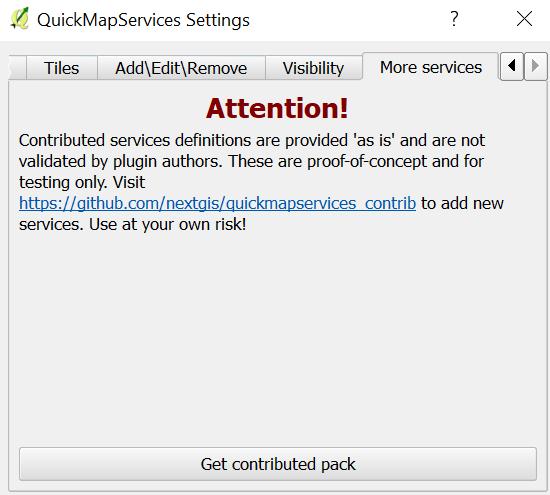 QuickMapServices en QGIS - obtener varios servicios de mapas