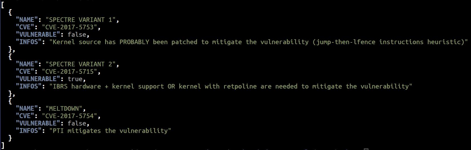 Resumen de la verificación de meltdown y spectre en GNU Linux