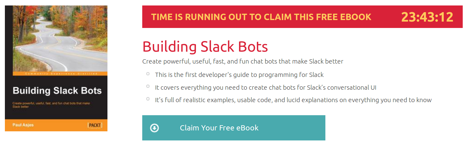 Building Slack Bots, ebook gratuito disponible durante las próximas 23 horas