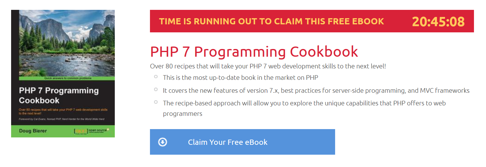 PHP 7 Programming Cookbook, ebook gratuito disponible durante las próximas 20 horas