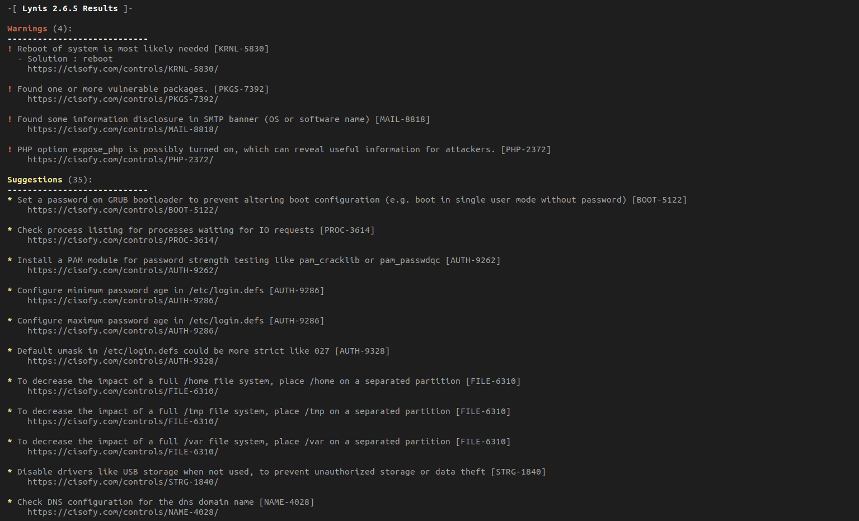Auditar sistemas GNU Linux usando Lynis (Linux Auditing Tool)