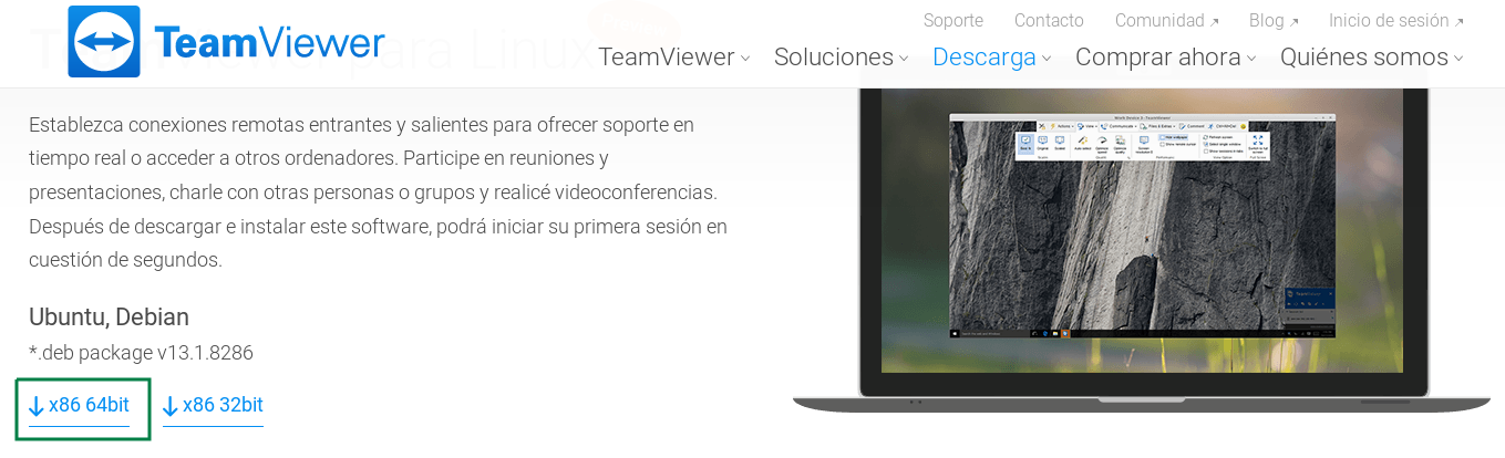 Descargar TeamViewer para Ubuntu 18.04 LTS