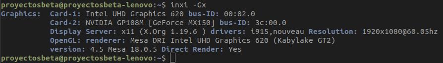 Tarjetas gráficas en Ubuntu Bionic Beaver 18.04 LTS