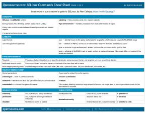 Cheat sheet de SELinux (imagen destacada)