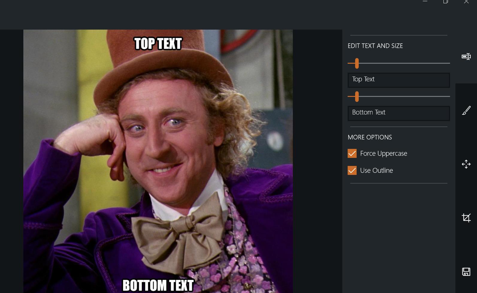 Crear memes con Meme Generator Suite en Windows 10