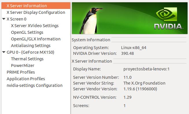 Driver de Nvidia en Ubuntu Bionic Beaver 18.04 LTS