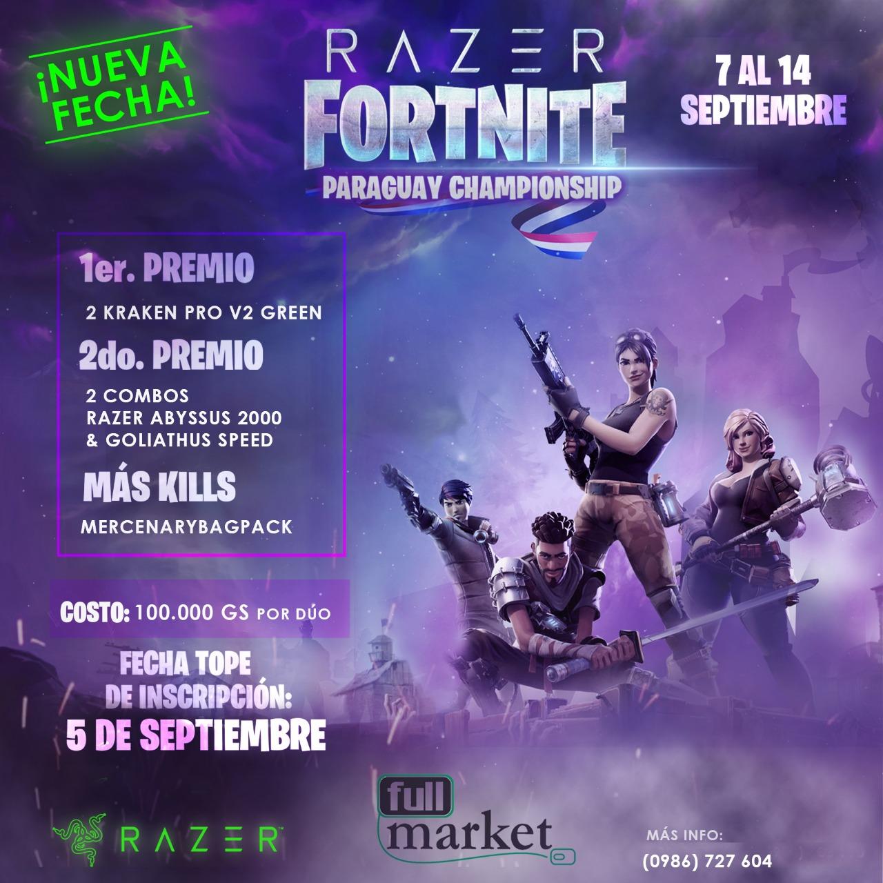 Fortnite Paraguay Championship del 7 al 14 de septiembre 2018