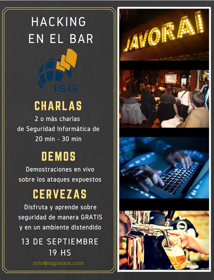 Hacking en el Bar - 13 de septiembre