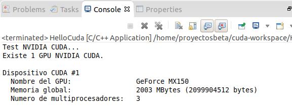 Información de GPU Nvidia con CUDA