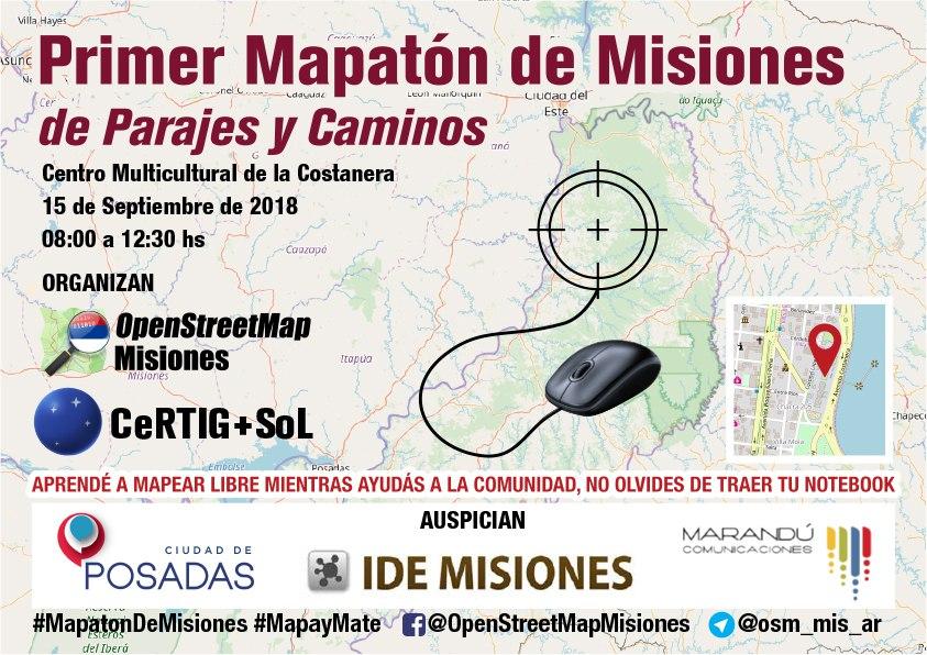 Primer #mapatóndeMisiones de parajes y caminos - 15 de septiembre 2018