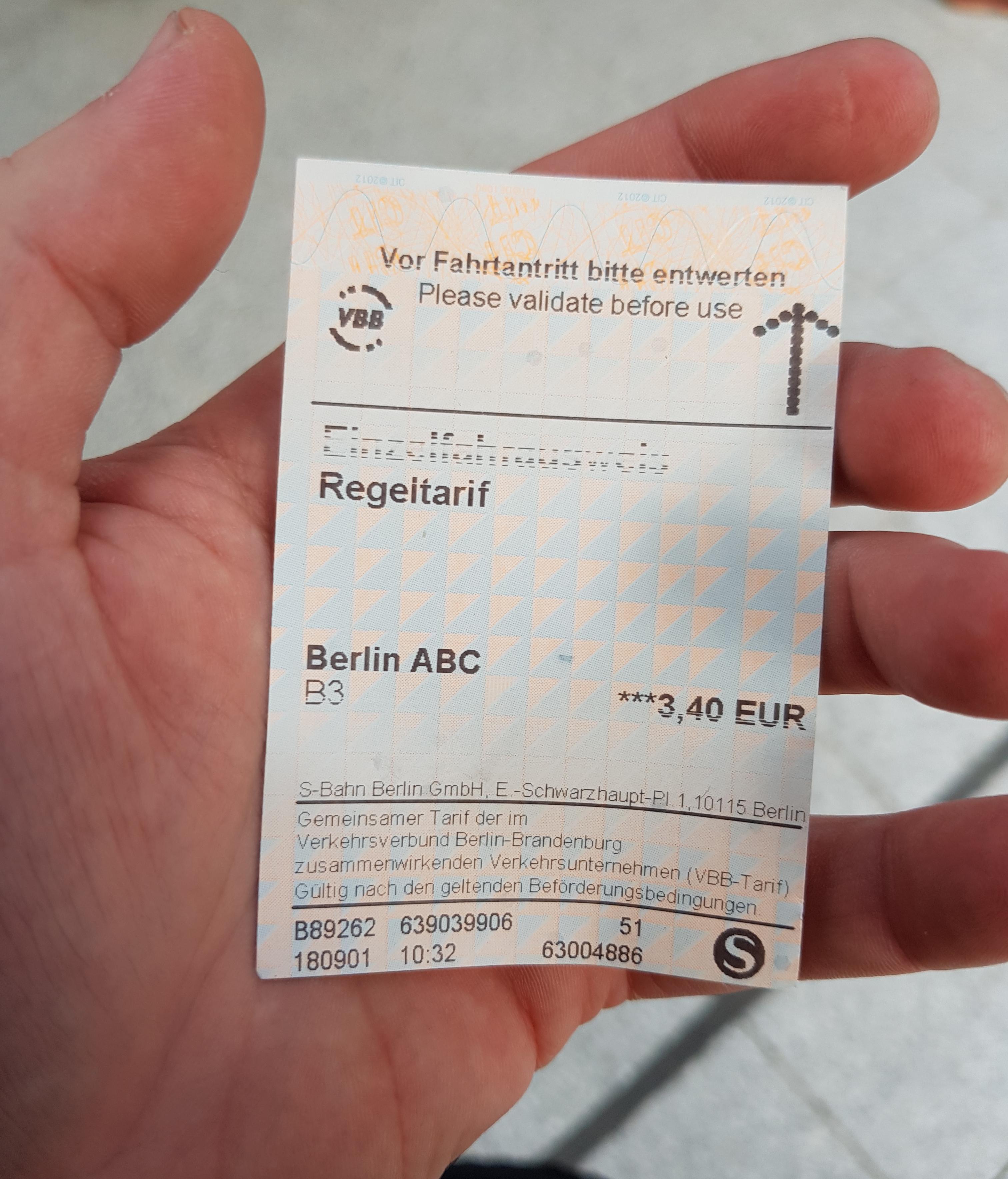 Ticket Tren
