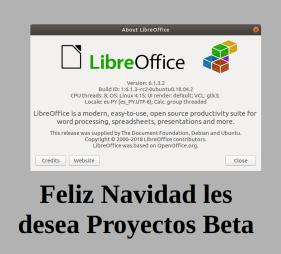 LibreOffice6.1.x en ubuntu 18.04 LTS Beaver Bionic (imagen destacada)
