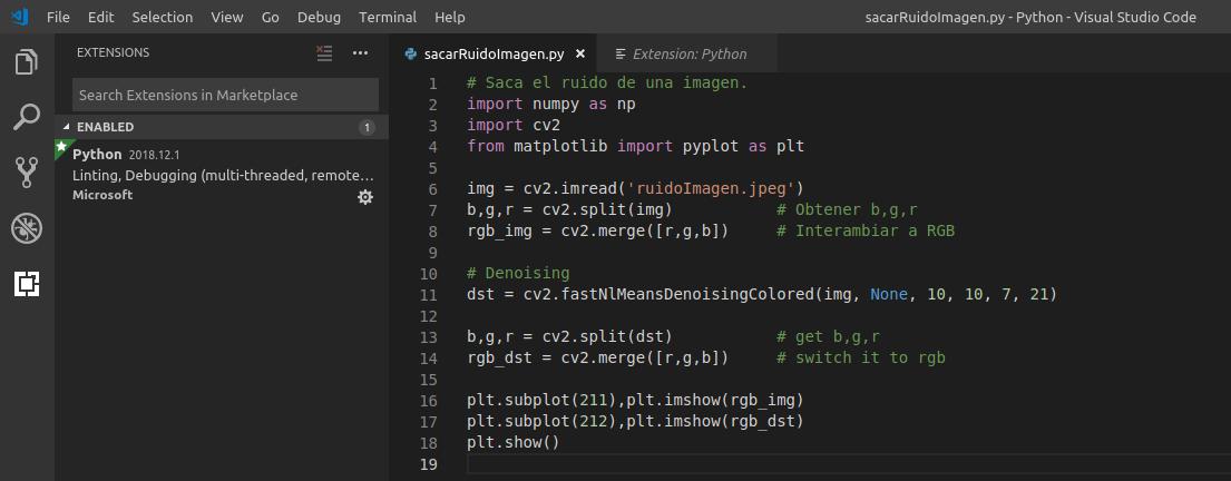Visual Studio Code en Ubuntu 18.04 LTS Bionic Beaver