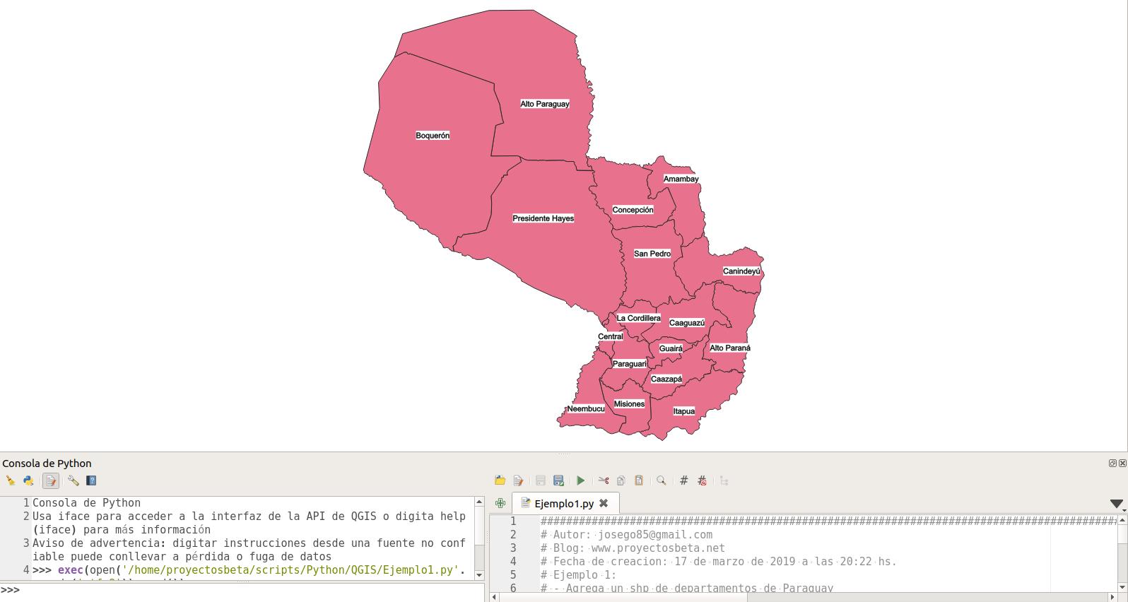 Script python en QGIS