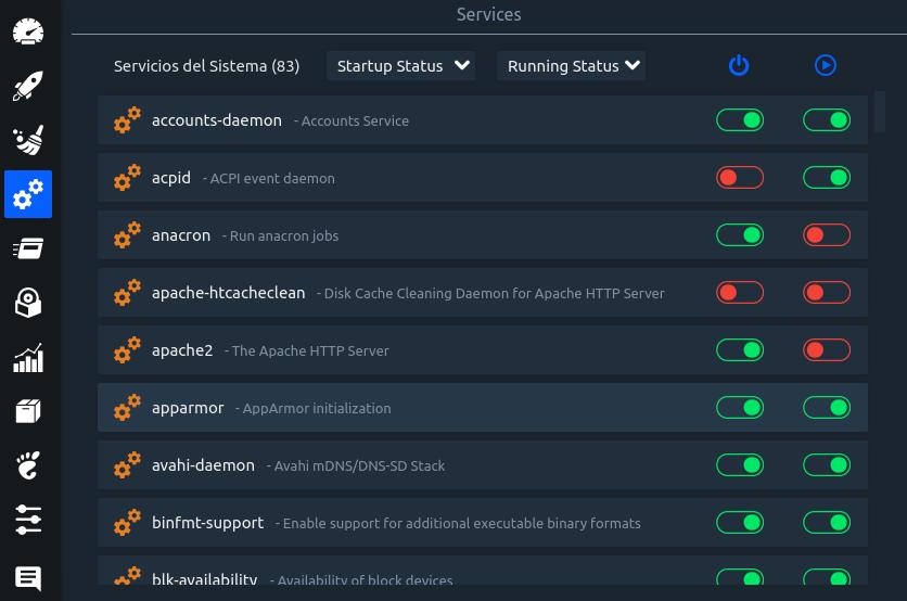 Stacer en Ubuntu 18.04 LTS