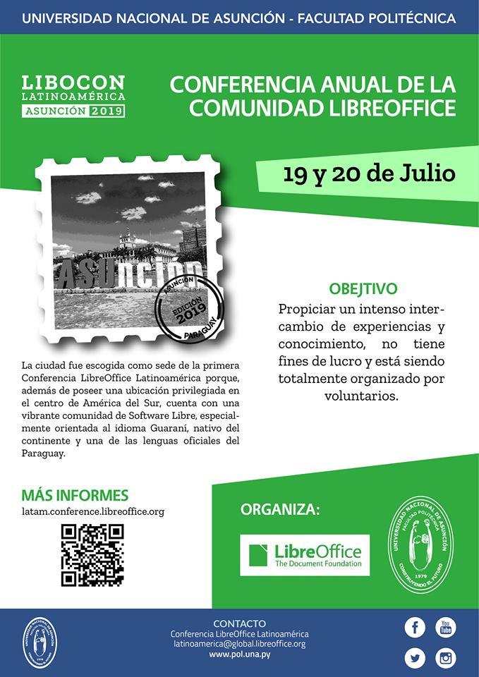 Afiche conferencia LibreOffice Latinoamérica
