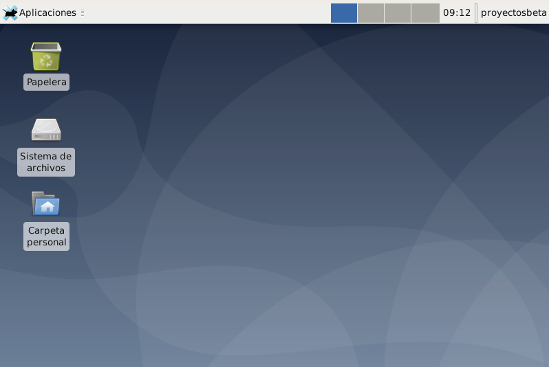 Escritorio XFCE 4 en Debian Buster