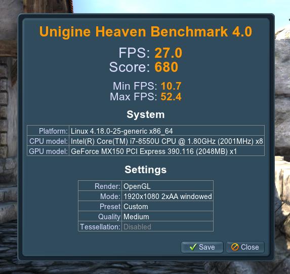 Medir rendimiento GPU en GNU-Linux
