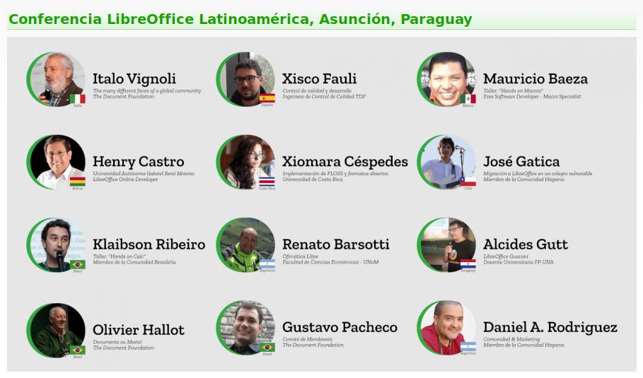 Panelistas Conferencia LibreOffice Latinoamérica