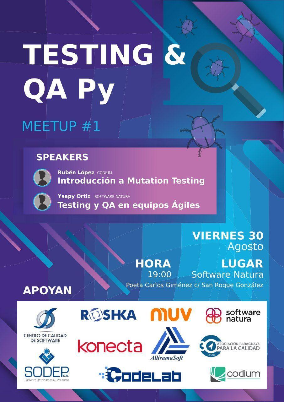 Primer meetup sobre Testing y QA en Asunción Paraguay