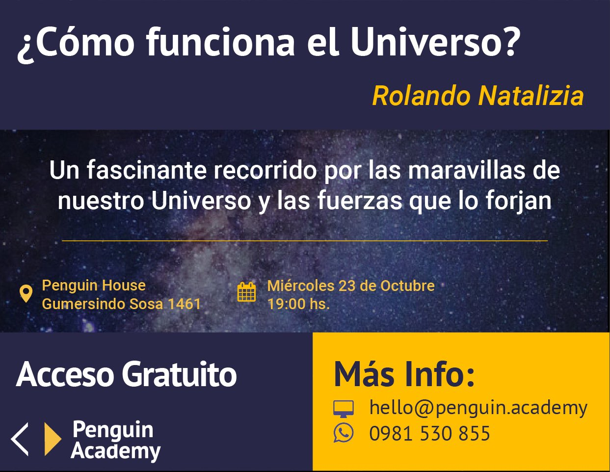 ¿Cómo funciona el universo? miércoles 23 de octubre