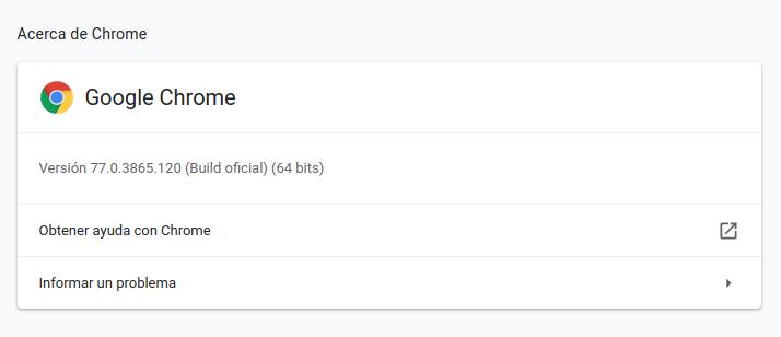 Google Chrome en Ubuntu 19.10 Eoan Ermine