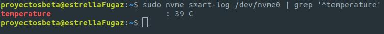 Obtener la temperatura de tu disco NVMe en Ubuntu