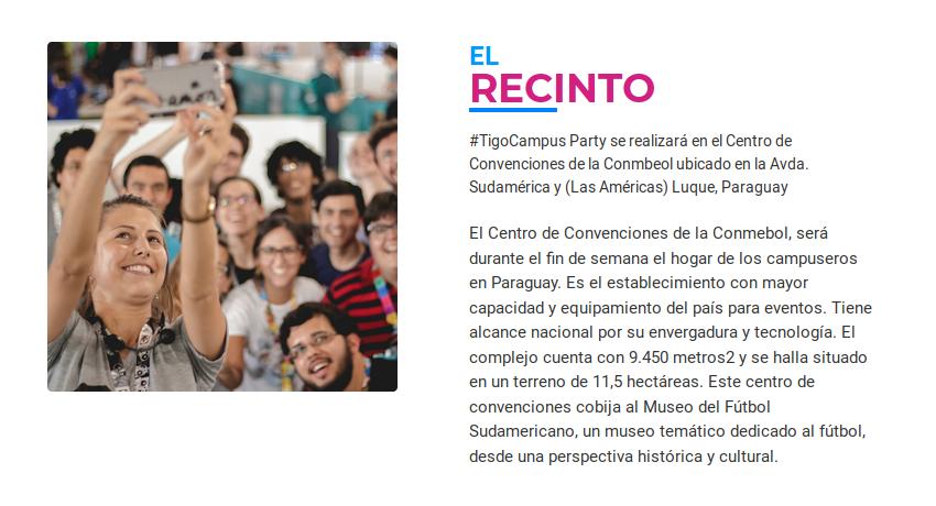 Recinto Tigo Campus Party 2019