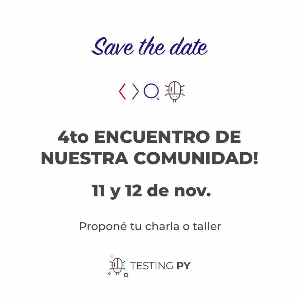 TestingPY-4 encuentro 2019