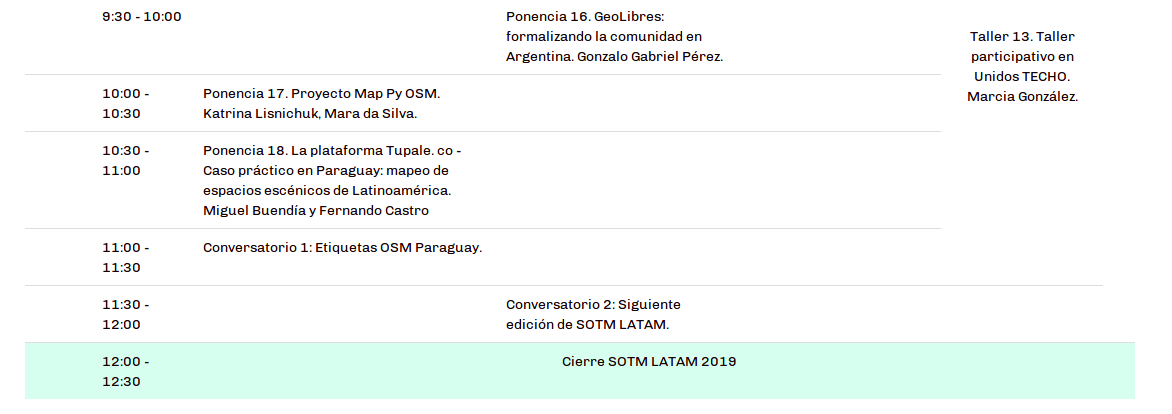 Agenda STOM Latam Paraguay 2019