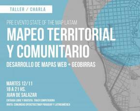 Pre-evento State of the Map Latam - Mapeo territorial y comunitario - 12 noviembre (imagen destacada)
