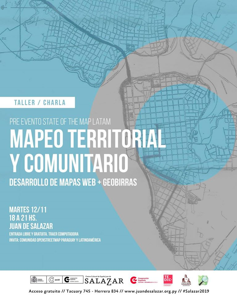 Pre-evento State of the Map Latam - Mapeo territorial y comunitario - 12 noviembre