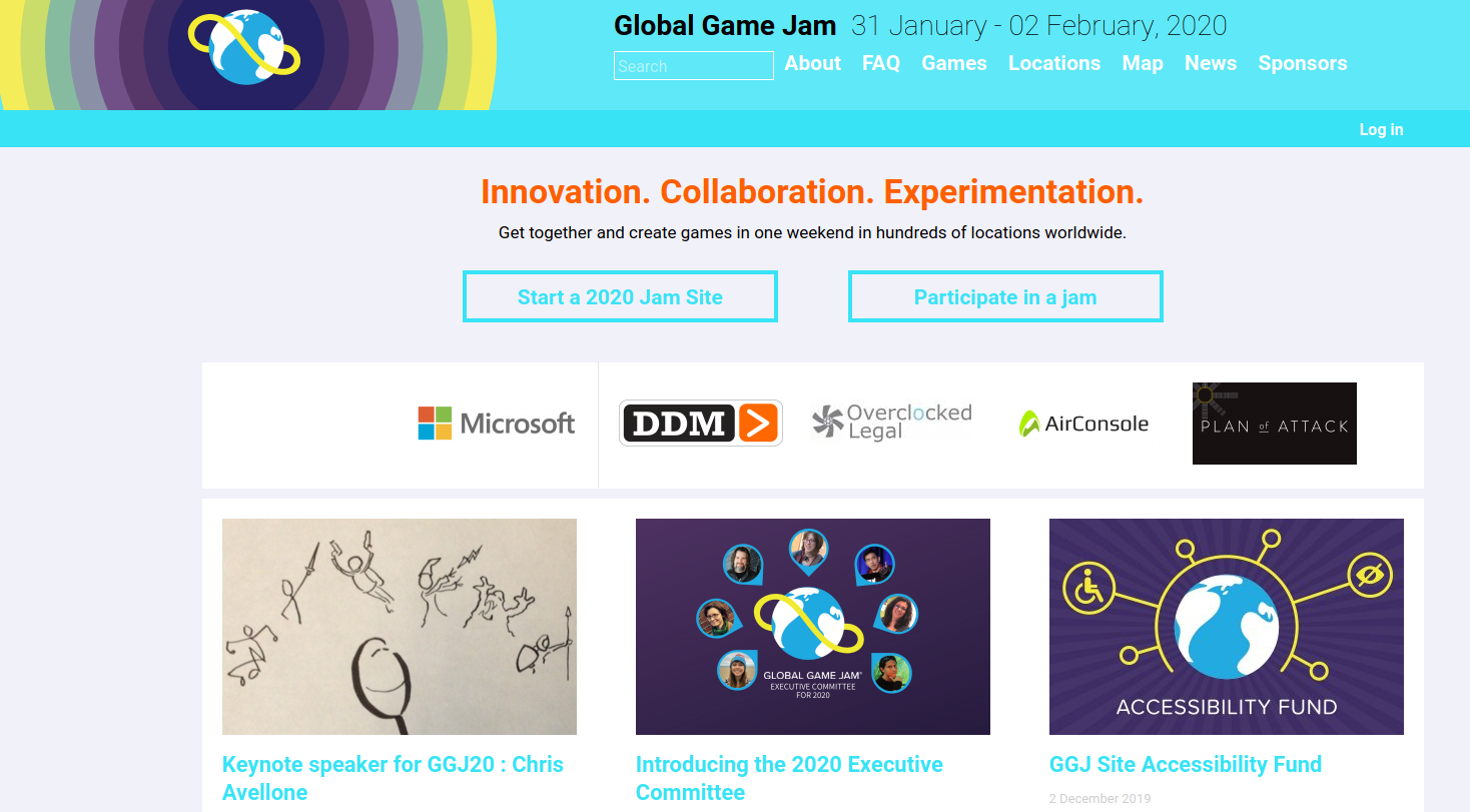 Sitio oficial Global Game Jam