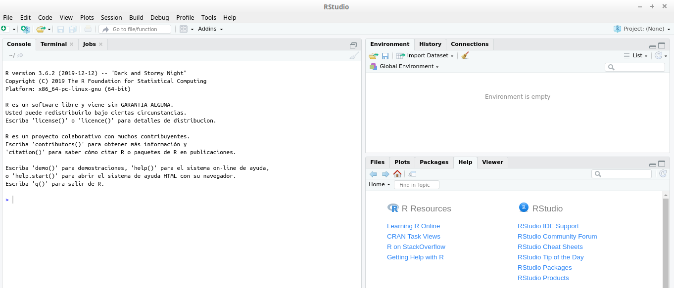 RStudio Linux Mint 19 Tara