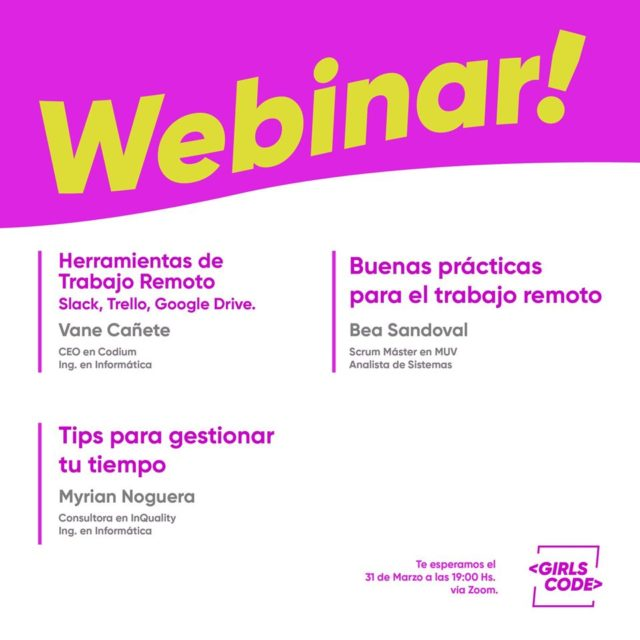 Webinar Girls Code - trabajo remoto