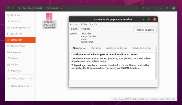 Instalando paquete deb con GDebi en Ubuntu 20.04 LTS