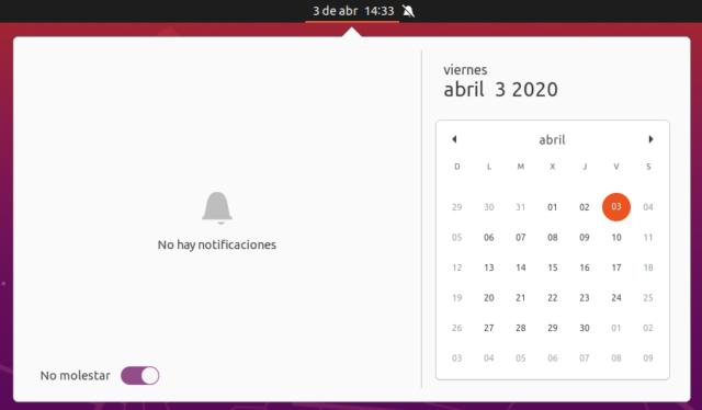 No molestar en Ubuntu 20.04 LTS Focal Fossa Beta