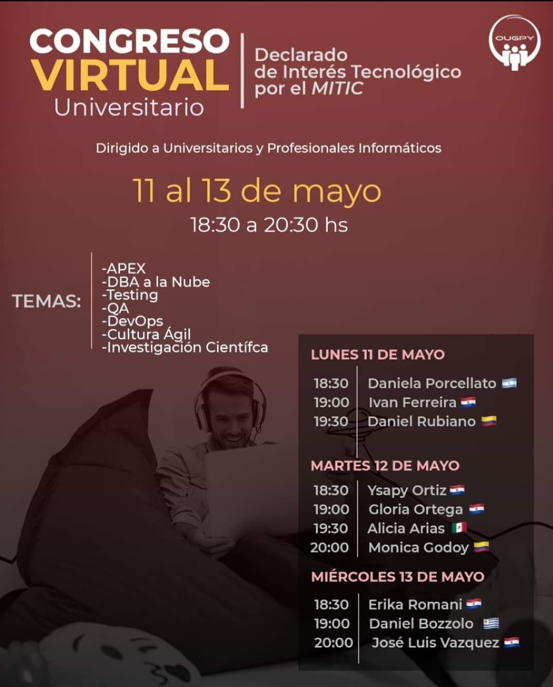 Congreso virtual universitario - 11 al 13 de mayo